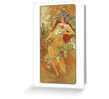 Alphonse Mucha - Autumn 1896 Greeting Card