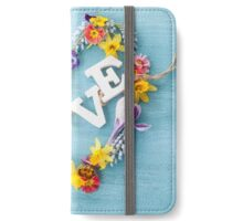 Love spring iPhone Wallet/Case/Skin