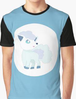 Alolan Vulpix Pokemon Design Graphic T-Shirt