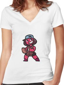 Ruby - baseball outfit Women's Fitted V-Neck T-Shirt