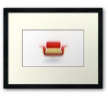 The Red Armchair... Framed Print