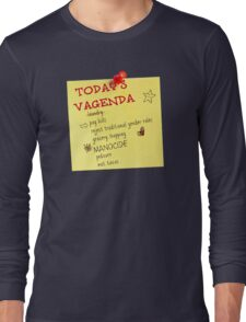 Today's Vagenda Long Sleeve T-Shirt
