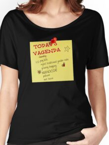 Today's Vagenda Women's Relaxed Fit T-Shirt