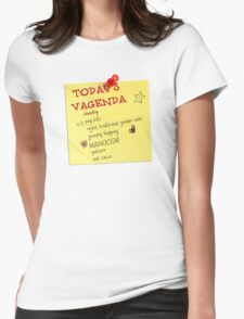 Today's Vagenda Womens Fitted T-Shirt