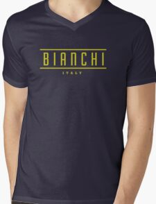 Bianchi Vintage Racing Bicycles Italy Mens V-Neck T-Shirt