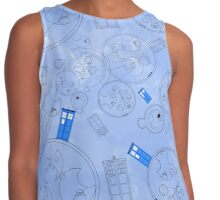 Police Box with Geometric Shapes Contrast Tank