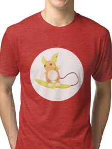 Alolan Raichu Pokemon Design Tri-blend T-Shirt