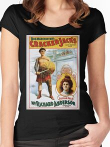 Performing Arts Posters Bob Manchesters The Cracker Jacks a 20th century idea 1258 Women's Fitted Scoop T-Shirt