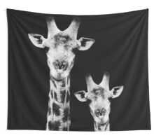 SAFARI PROFILE - GIRAFFES BLACK EDITION Wall Tapestry