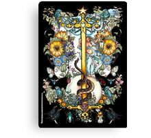 """The Illustrated Alphabet Capital  I  """"Getting personal"""" from THE ILLUSTRATED MAN Canvas Print"""