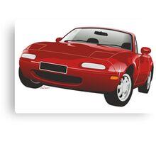 Mazda MX-5 Miata red Canvas Print