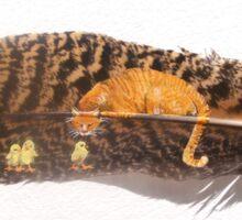 Orange Cat Watching Sticker