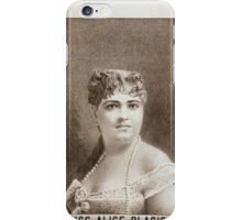 Performing Arts Posters Miss Alice Placide 0190 iPhone Case/Skin