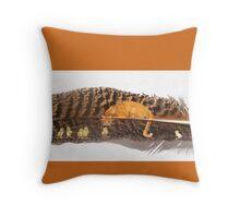 Orange Cat Watching Throw Pillow
