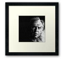 Jean-Louis Trintignant - conté drawing Framed Print