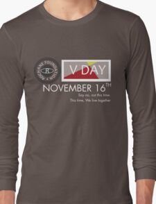 Support V-Day Long Sleeve T-Shirt