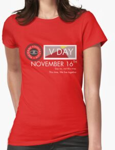 Support V-Day Womens Fitted T-Shirt