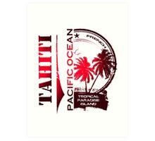 TAHITI Summer Island Art Print
