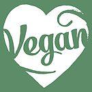Vegan Love (white print) by fixtape