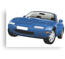 Mazda MX-5 Miata blue Canvas Print