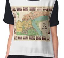 Map Of Shanghai 1908 Chiffon Top