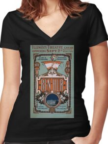 Performing Arts Posters Ben Hur Klaw Erlangers stupendous production 0019 Women's Fitted V-Neck T-Shirt