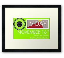 Support V-Day Framed Print