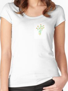 Yellow Floral Bouquet  Women's Fitted Scoop T-Shirt
