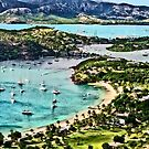 Antigua View Falmouth Harbor by Susan Savad