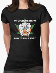 Funny Cartoon Weed Marijuana Pot Ganja Stoner Clothing and Gifts   Womens Fitted T-Shirt