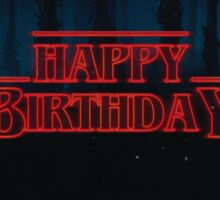 Stranger Things - Happy Birthday Sticker