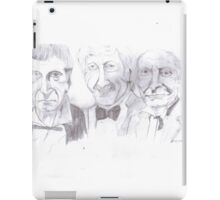 the first three doctors iPad Case/Skin