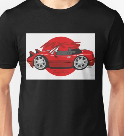 Mazda MX-5 cartoon red Unisex T-Shirt