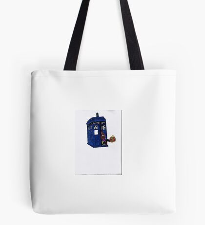 time lord bunny Tote Bag