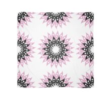 Pink And Black Modern Floral Pattern Scarf