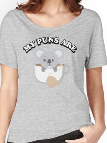 My puns are Women's Relaxed Fit T-Shirt