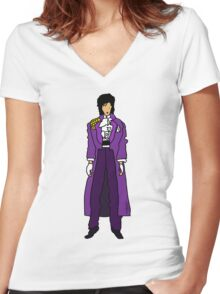 The Purple One Women's Fitted V-Neck T-Shirt