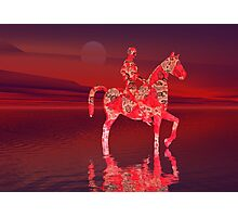 RIDING AT DUSK Photographic Print