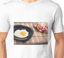 Natural homemade breakfast of fried egg and salad Unisex T-Shirt