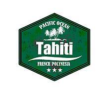 TAHITI Pacific Ocean Emblem Photographic Print