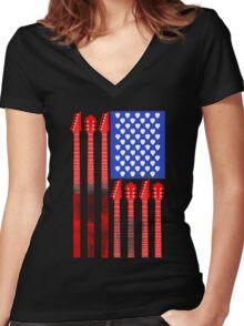Country Music V.2 Women's Fitted V-Neck T-Shirt