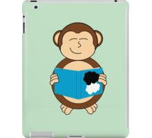 Monkey reading a book iPad Case/Skin