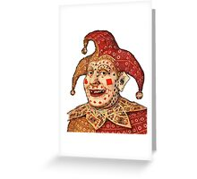 Poker face - 1 Greeting Card