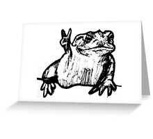Toad of Peace Greeting Card