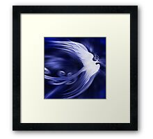 Blue magical phoenix bird artistic design art photo print Framed Print