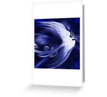 Blue magical phoenix bird artistic design art photo print Greeting Card