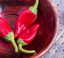 Fruits chilli hot red pepper Sticker