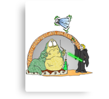 Jabba is in Trouble Canvas Print