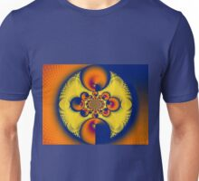 Oranges & Blues...and Some Yellow Unisex T-Shirt