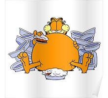 Garfield Eat Cake Poster